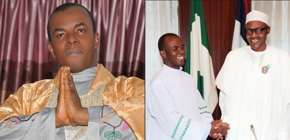 2019 Presidency: Mbaka Shuns Reporters After Closed-Door Meeting With Buhari