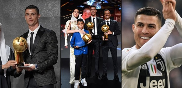 Image result for Cristiano Ronaldo Named Player Of The Year At Globe Soccer Awards (Photos)