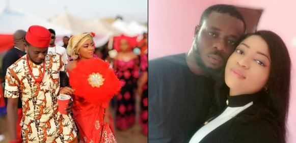 """Don't lose your husband because of boyfriend""- Nigerian lady advises women, shares photos from her wedding to a man she met in November 2018"