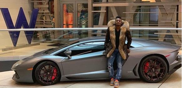 Football Star Obafemi Martins Flaunts His New Whip, A Brand New Ferrari Spider