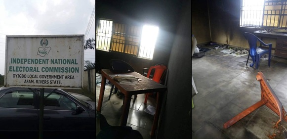 INEC office set ablaze in Rivers state
