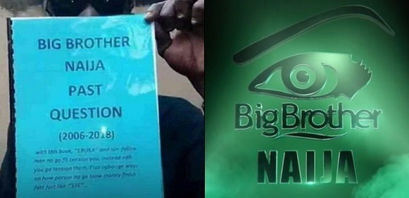 'Big Brother Naija Past Questions' Booklet Is Now Being Sold In Traffic
