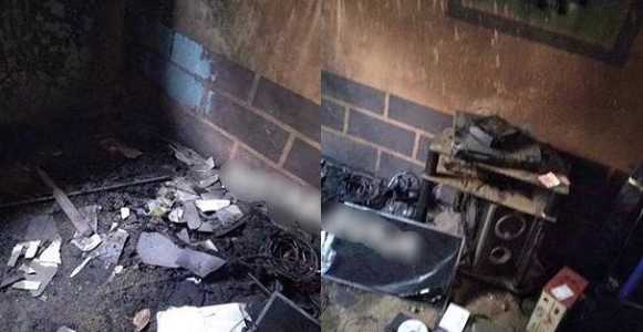 AAUA student set her ex's room ablaze for dumping her in Ondo (Photos)