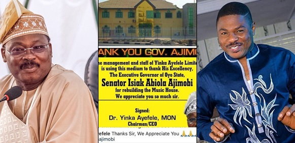 Yinka Ayefele Appreciates Governor Ajimobi For Rebuilding His Music House That Was Demolished Last Year