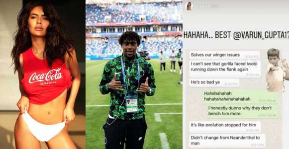 Actress Gupta apologises over racist comment on Nigerian footballer, Alex Iwobi