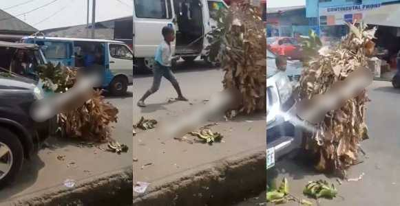 Boy flogs a masquerade that assaulted him in Calabar (Video)
