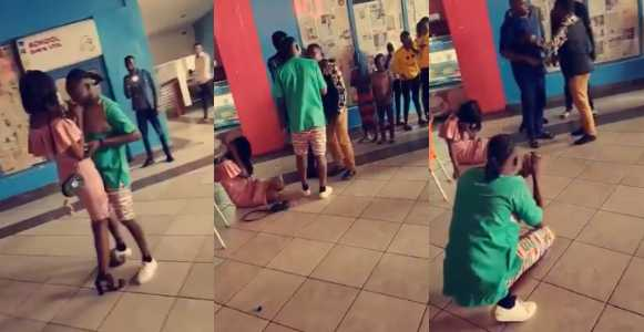 Drama as lady's main boyfriend shows up after she accepted a marriage proposal from another guy (Video)