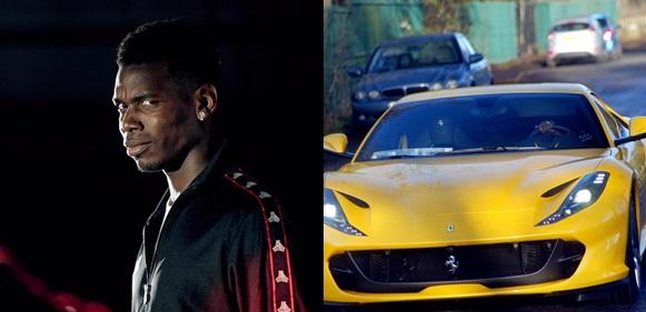 Paul Pogba buys brand new £250,000 Ferrari to celebrate child's birth