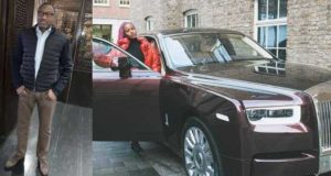 Femi Otedola reacts as daughter, Dj cuppy shows off Rolls Royce worth ₦162 million