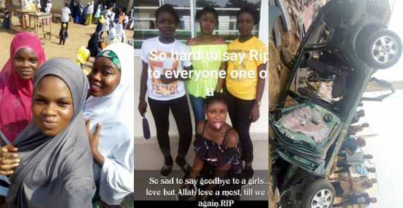 Lady blames Yahoo boys as car crushes 4 girls to death