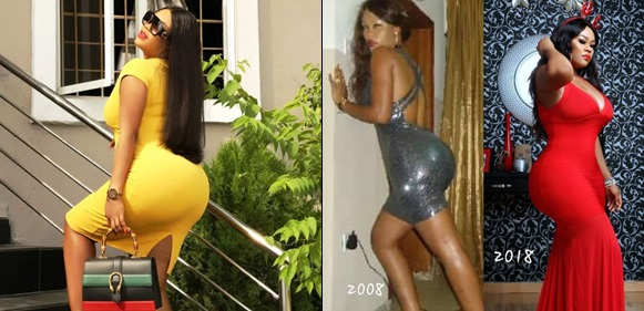 'And Dey Said We Did Yansh Surgery' Daniella Okeke Says, Joins #10yearschallenge By Showing Off Her Backside