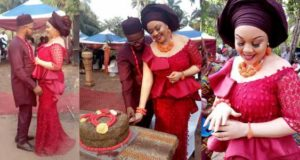 Nnamdi Kanu's brother marries his beautiful bride, Chioma in Abia State (Photos)