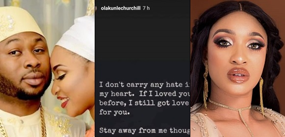 'I Still Got Love For You, Stay Away From Though'- Churchill Replies Tonto Dikeh After She Prayed Against Their Reunion