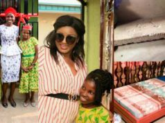 Omotola Jalade-Ekeinde Amazingly Transforms The Home Of A Widow In Four Days (Photos)