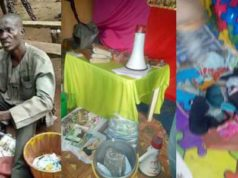 Pastor caught with bag filled with female underwear in Auchi, Edo state (Photos/Video)