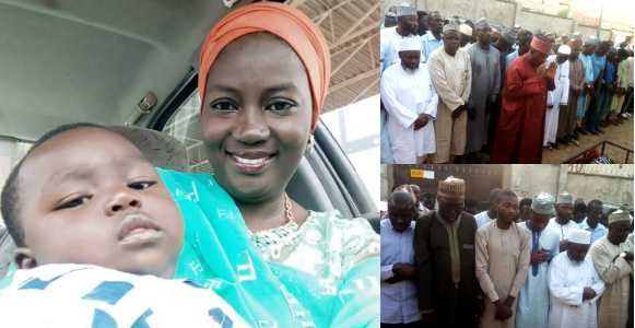 Photos from the funeral of NTA Kaduna presenter who died in an accident alongside her one-year-old child