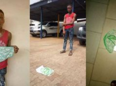 Police parade teenager arrested for stealing female pant in Anambra (Photos)