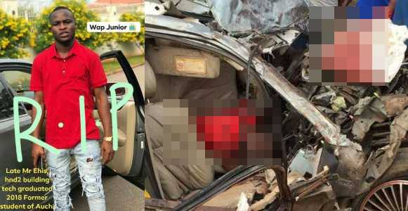 Young Graduate crushed to death by a lorry In Edo (Photos)