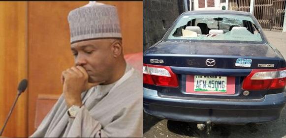 Thugs invade Senate president, Saraki's residence, destroy over 50 cars and more