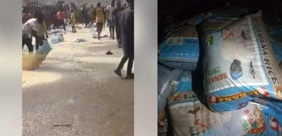 Angry youths destroy APC campaign rice in Ekiti