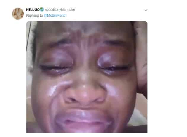 shocking!!! Nigerian lady weeps following President Buhari's re-election (Watch Video) 1