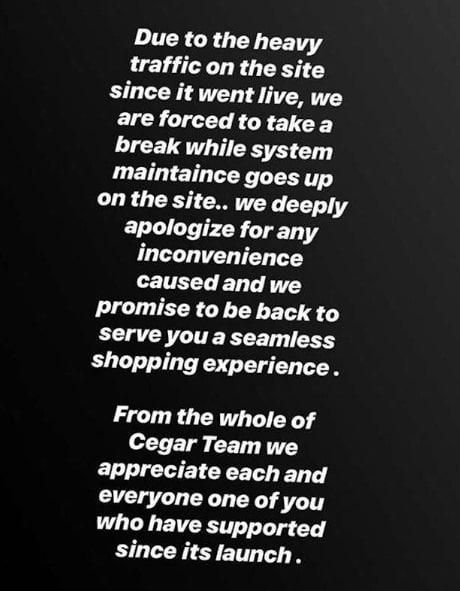 Cee-c's Sportswear Site Shuts Down, Bbnaija Cee-c's Sportswear Site Shuts Down As She Sold Out Within 24hours Of Opening