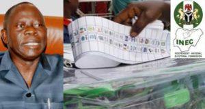 #NigeriaDecides2019: APC chairman, Adams Oshiomhole, blasts INEC over election postponement