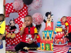 Actress, Tonto Dikeh gushes over son, King Andre as he turns 3 today (Photos)