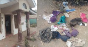 Alleged ritualists den uncovered in Ibadan, pants, bra and others found (Photos)