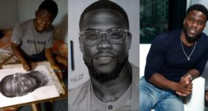 American comedian, Kevin Hart, reaches out to a Nigerian boy who drew him