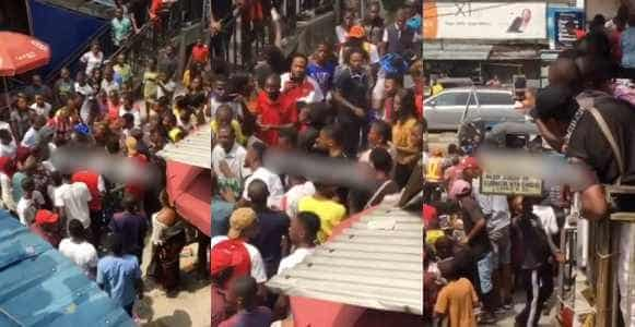 Bride in tears as she chases groom after being dumped at the altar in Delta State (Video)