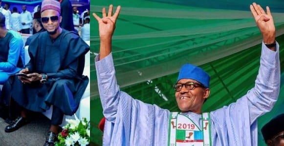 Comedian I Go Dye congratulates Buhari on his re-election