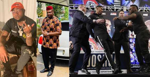 Davido, Don Jazzy, & other angry Nigerians storm Jarrel Miller's IG page to drag him for pushing Anthony Joshua