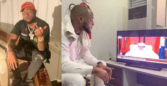 Davido reacts to the postponement of the election