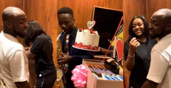 Davido surprises girlfriend, Chioma with lots of gift on Valentine's day (Video)