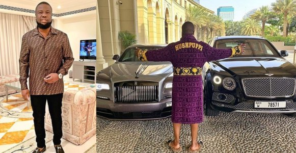 Days after buying a Bentley Bentayga, Hushpuppi cops a Rolls Royce Wraith Black Badge (Photos/Video)