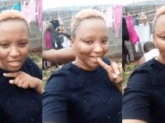 Lady elated as her boyfriend washes her pants and bra (Photos)
