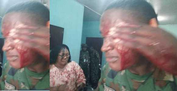 Lady machetes military teacher for flogging her child
