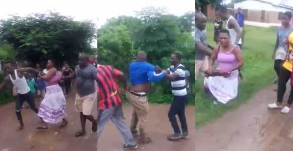 Man catches cheating wife & lover after trailing her to their s3x spot (Video)