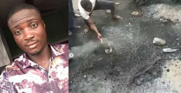 Man wrongly accused of being a thief burnt to death in Lagos (Video)
