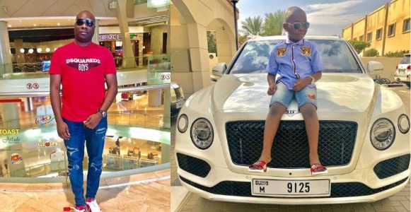 Mompha reacts after being slammed for buying Bentley Bentayga for his son