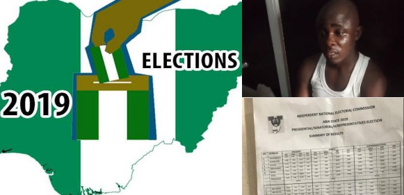 Man caught with ready-made election result sheet in Umuahia, Abia state (Video)