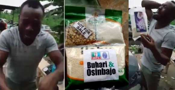 Image result for A Trending Video Of A Man Who Burst Into Tears After Receiving APC Next Level Garri