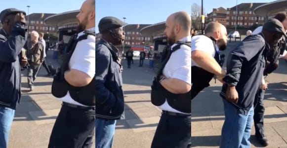 Nigerian preacher arrested on the street of London for public disturbance (Video)