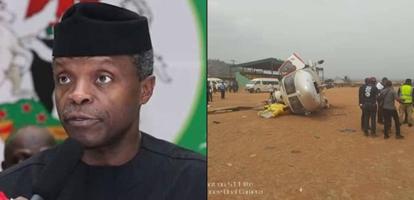 BREAKING: Air Force helicopter carrying VP Osinbajo crashes