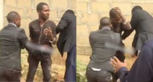 Pastor catches man trying to steal tithe during church service In Asaba (Video)