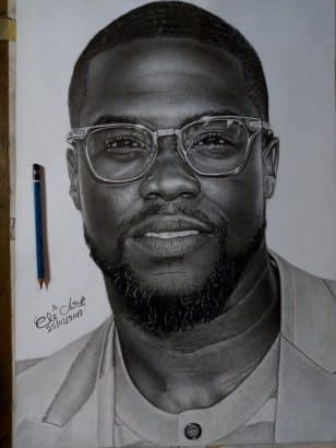 [Image: Pencil-drawing-of-Kevin-Hart-by-a-Nigeri...-buy-2.jpg]