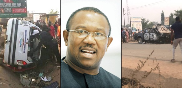 Peter Obi escapes demise after fatal clash between PDP and APC supporters