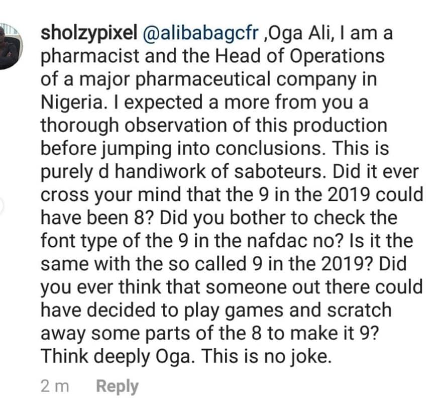 Alibaba, Cough Syrup, Nafdac