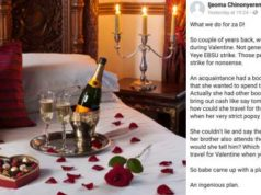 See how Nigerian lady deceived her parents so she could travel to be with her boyfriend on Valentine's Day